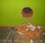 Apertura de hueco en muro