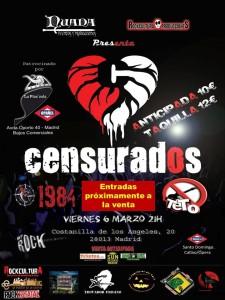 cartel concierto 1984+teto+censurados